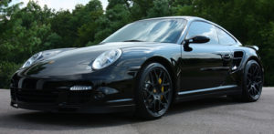 Black Porsche 997 Turbo Paint