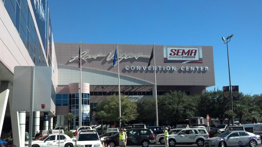 Arriving at SEMA Show 2012