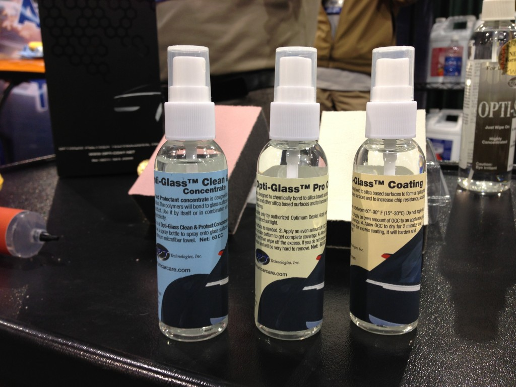 Optimum Opti-Glass Coating, Opti-Glass Pro Coating, and Opti-Glass Clean and Protect Concentration
