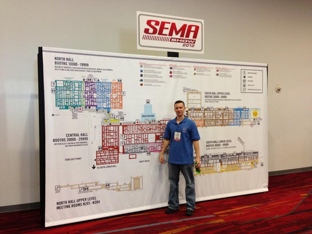 SEMA Show 2012 Map