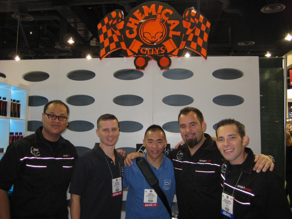 Detailed Image's Greg and Mike at the Chemical Guys booth with Dee, Paul, and Greg - SEMA Show 2012