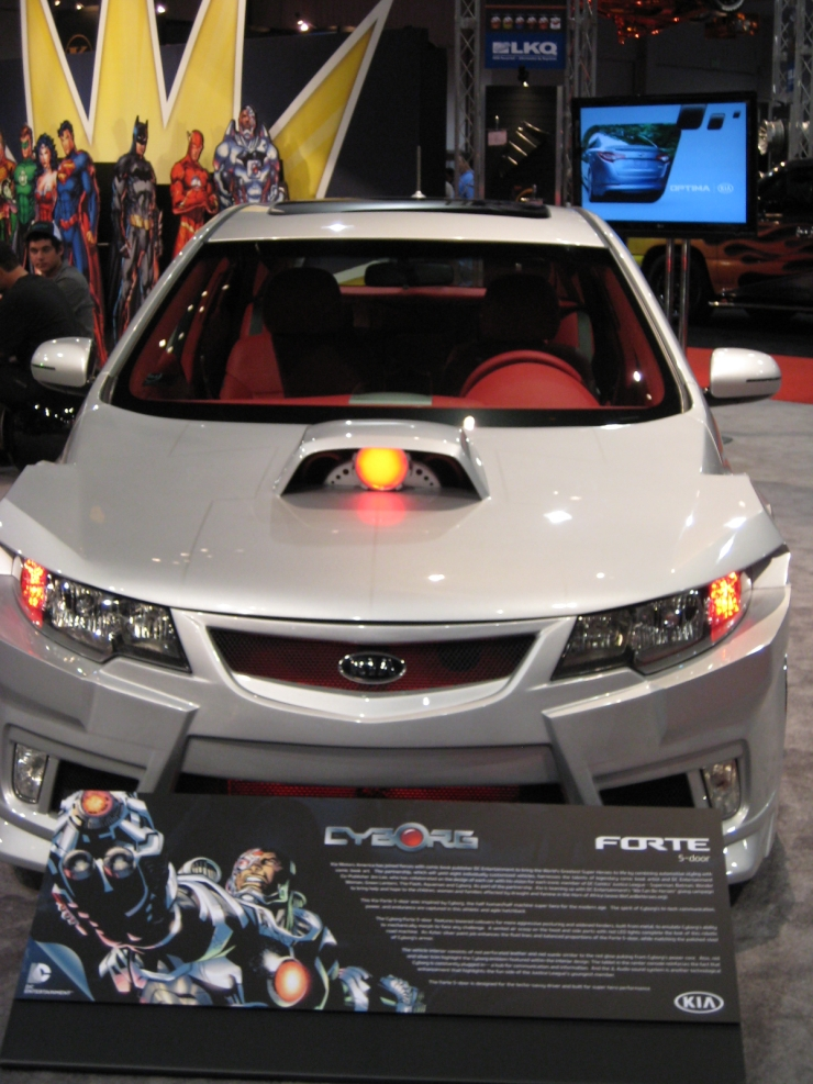 SEMA 2012 Kia DC Comics Justice League Cyborg Forte