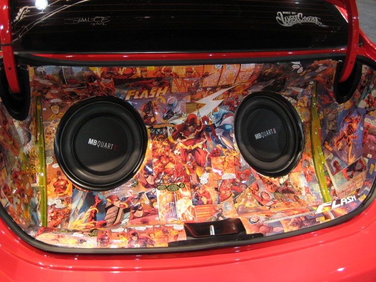 SEMA 2012 Kia DC Comics Justice League Flash Rio Trunk