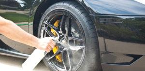 Black Lamborghini Murcielago Paint Correction and Clear Bra Prep