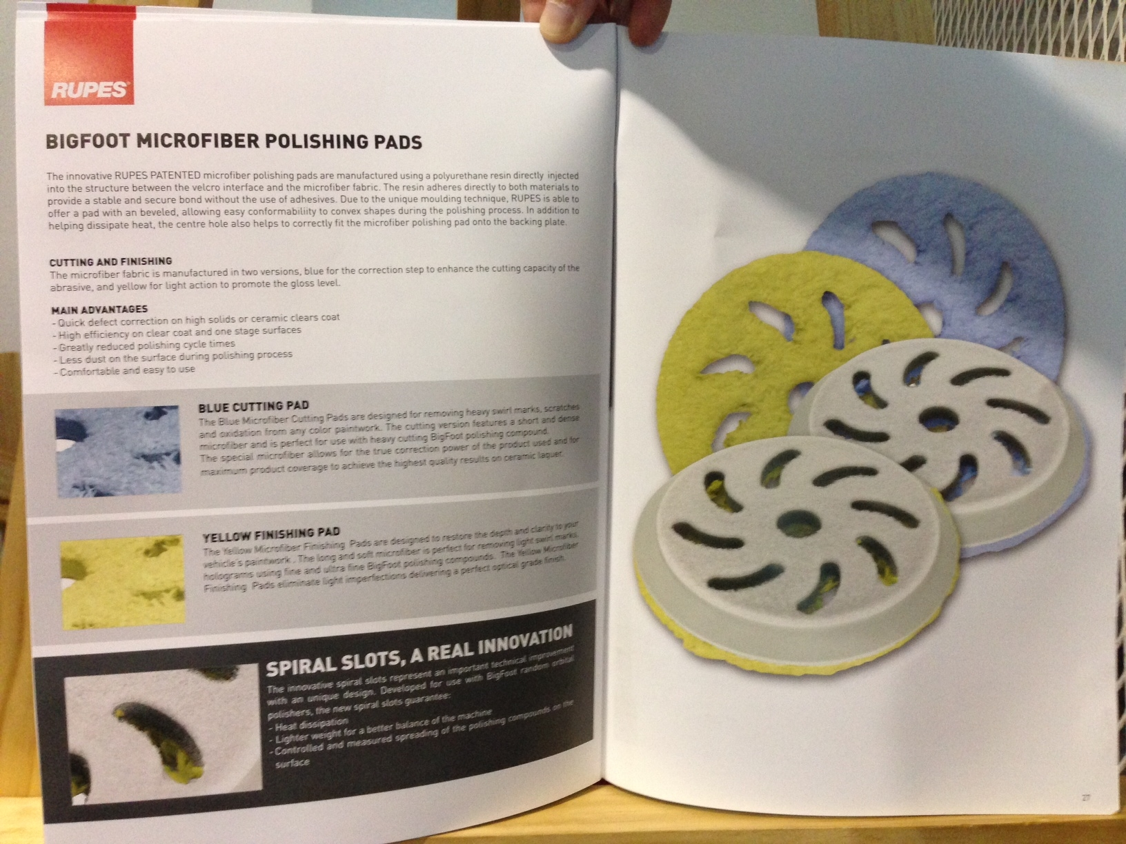 Rupes Bigfoot Microfiber Polishing Pads Specs