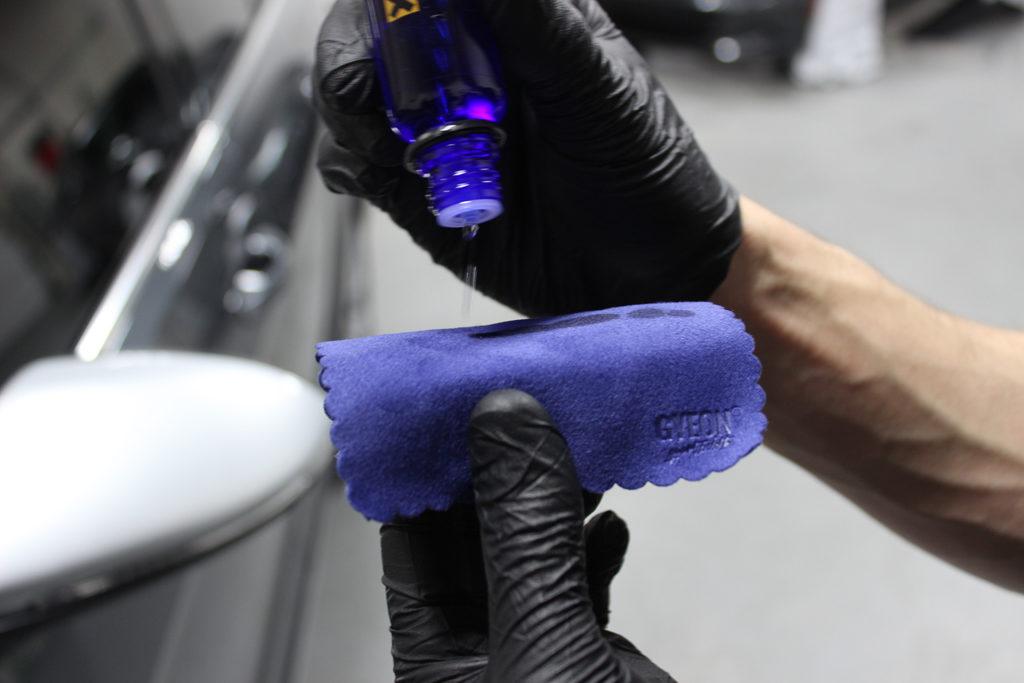 applying Repel to suede cloth