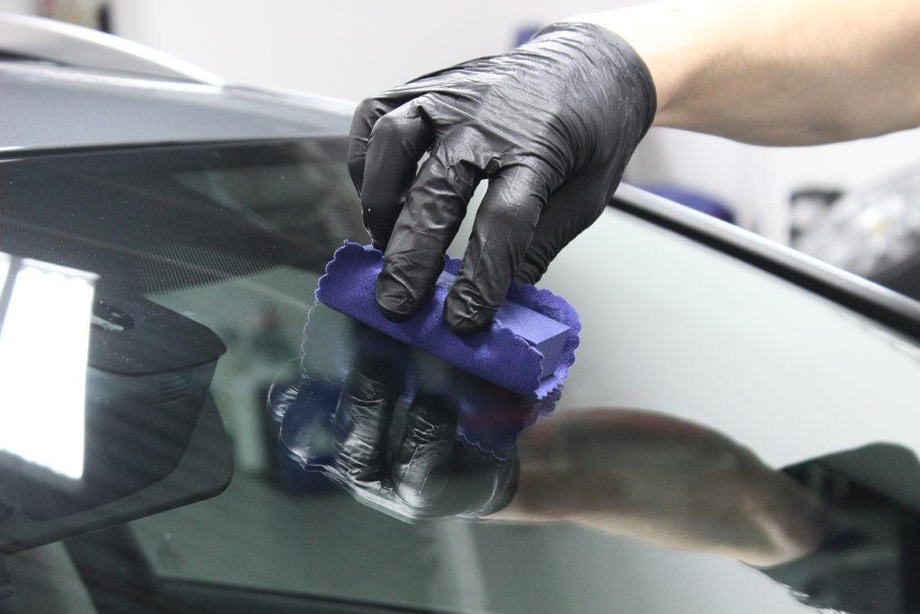 Wipe Repel onto windshield