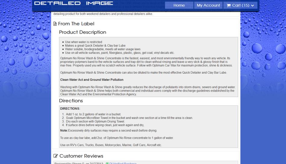 New DI Product Info