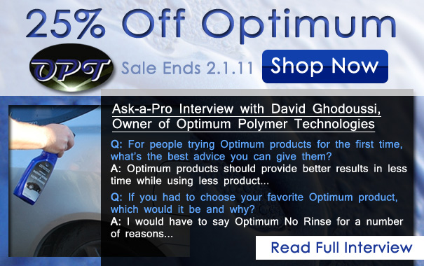 Optimum Polymer Technology Sale & Exlcusive Interview w/ Optimum Owner David Ghodoussi (Dr. G)
