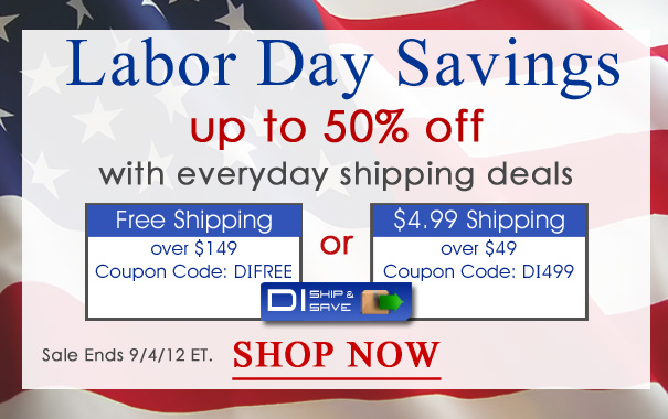 Save up to 50% with Labor Day savings