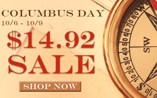 $14.92 Columbus Day Sale