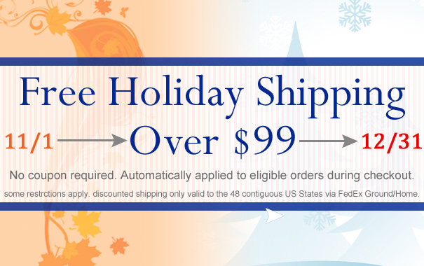 Free Holiday Shipping Over $99