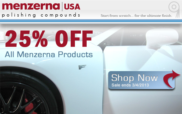 25% Off Menzerna Products