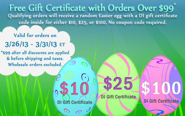 Free Easter Egg Gift Certificate up to $100