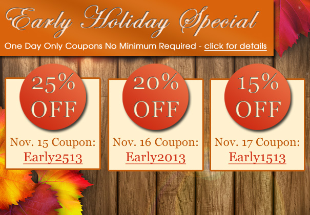 One Day Only Holiday Specials