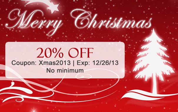 20% Off Christmas Sale
