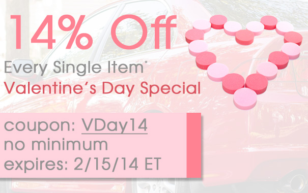 14% Off Every Single Item - Valentine's Day Special - Coupon Code VDay14