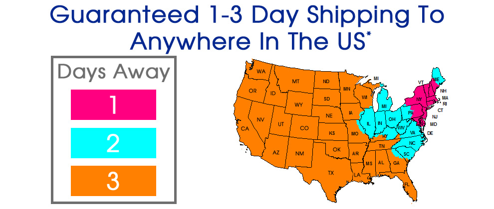 Guaranteed 1-3 Day Shipping Anywhere In The US