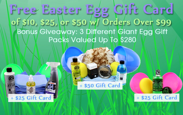 Free Easter Egg Gift Card of $10, $25, or $50 w/ Orders Over $99 - Bonus Giveaway: 3 Different Giant Egg Gift Packs Valued Up To $280