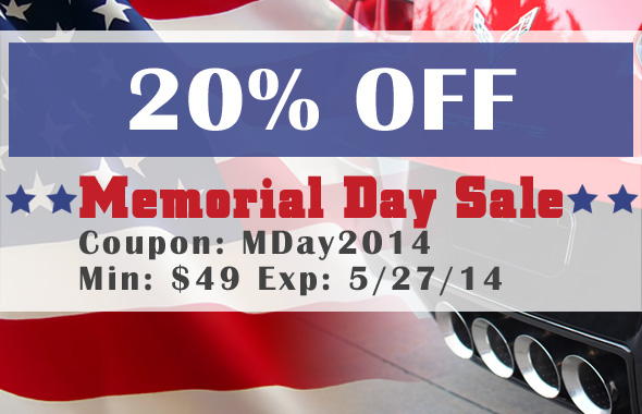 20% Off Memorial Day Sale - Coupon Code: MDay2014