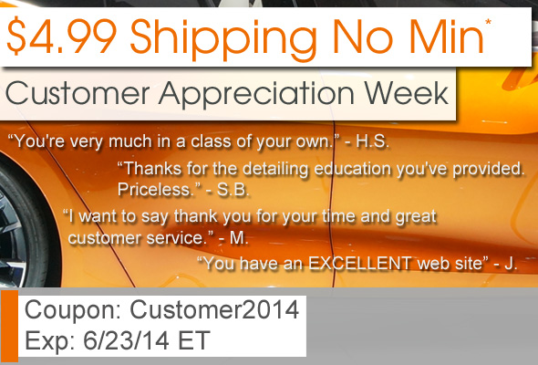 $4.99 Shipping No Min - Customer Appreciation Week - Coupon: Customer2014