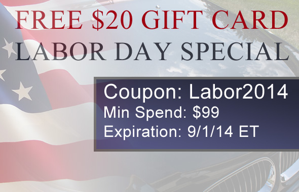Free $20 Gift - Labor Day Special