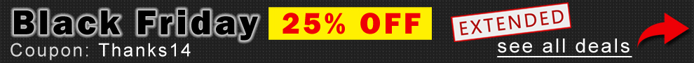 Black Friday 25% Off Extended - Coupon Thanks14 - See All Deals
