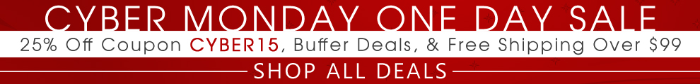 Cyber Monday One Day Sale - 25% Off Coupon Cyber15, Buffer Deals, & Free Shipping Over $99 - Shop All Deals