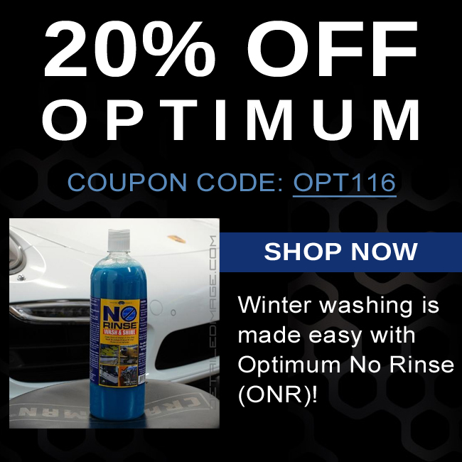 20% Off Optimum - Coupon Code OPT116 - Winter washing is made easy with Optimum No Rinse - Shop Now