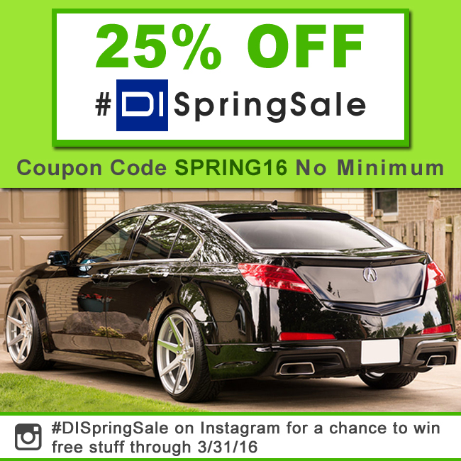 25% Off #DISpringSale - Coupon Code Spring16 - No Minimum - #DISpringSale on Instagram for a chance to win free stuff through 3/31/2016