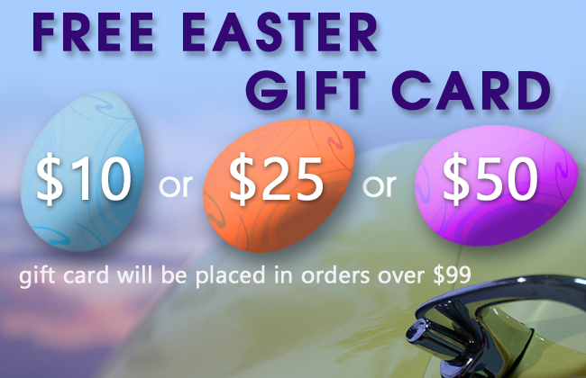 Free Easter Gift Card - $10, $25 or $50 gift card will be placed in orders over $99