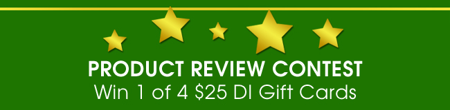 Product Review Contest - Win 1 of 4 DI Gift Cards