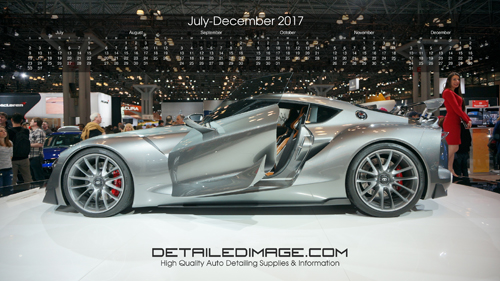 Detailed Image 2017 Wallpaper Calendar 3