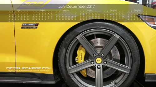 Detailed Image 2017 Wallpaper Calendar 4