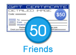 50 Friends - $50 Gift Certificate