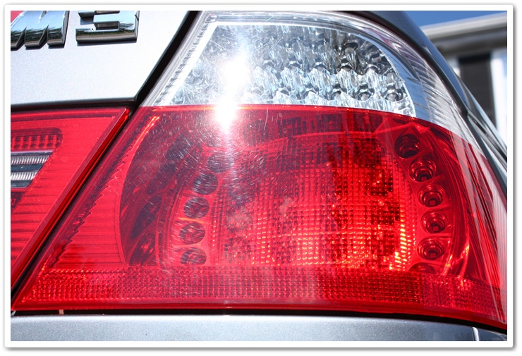 Swirl marks on BMW M3 tail lights