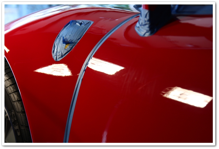 1985 Ferrari 288 GTO fender after polishing
