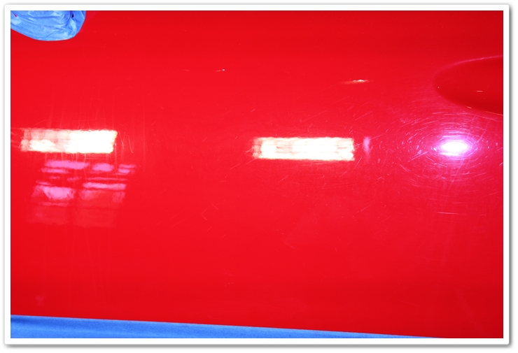 1985 Ferrari 288 GTO paint before polishing