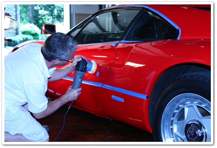 Polishing a 1985 Ferrari 288 GTO with a Porter Cable 7424 XP buffer