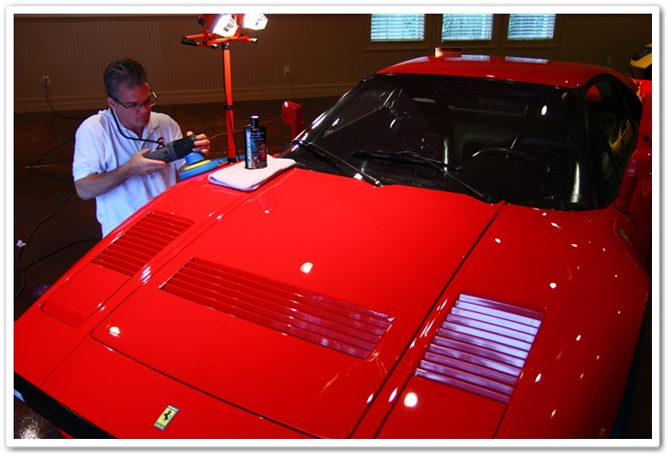 Applying Blackfire Wet Diamond to a 1985 Ferrari 288 GTO with a Porter Cable 7424XP