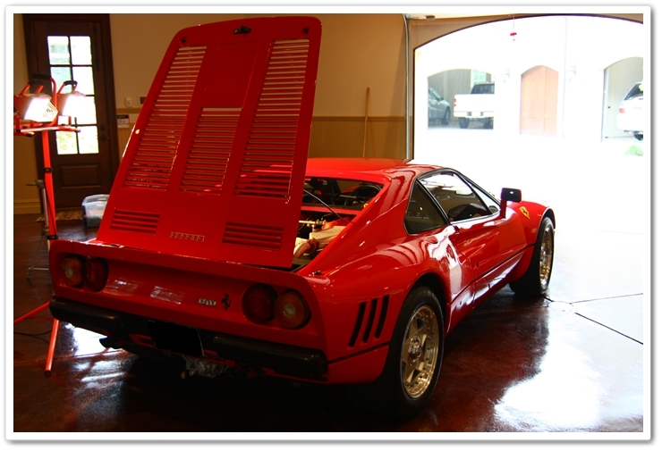 1985 Ferrari 288 GTO after detail