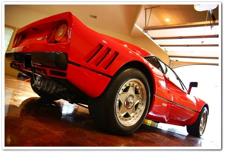 1985 Ferrari 288 GTO back floor view