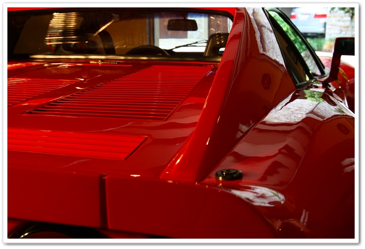 1985 Ferrari 288 GTO covered in Blackfire Wet Diamond paint sealant