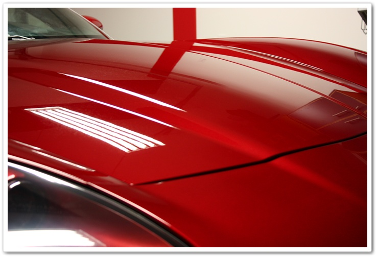 2008 Chevy Corvette in Crystal Red Metallic after applying Blackfire Wet Diamond by Esoteric Auto Detail