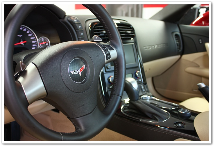 2008 Chevy Corvette interior after an Esoteric Auto Detail