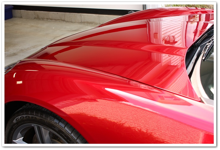 2008 Chevy Corvette in Crystal Red Metallic after an Esoteric Auto Detail