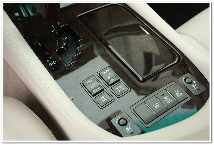 2008 Lexus LS460L interior before detailing