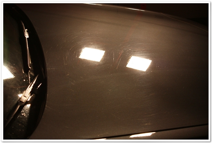 2008 Lexus LS460L paint before polishing