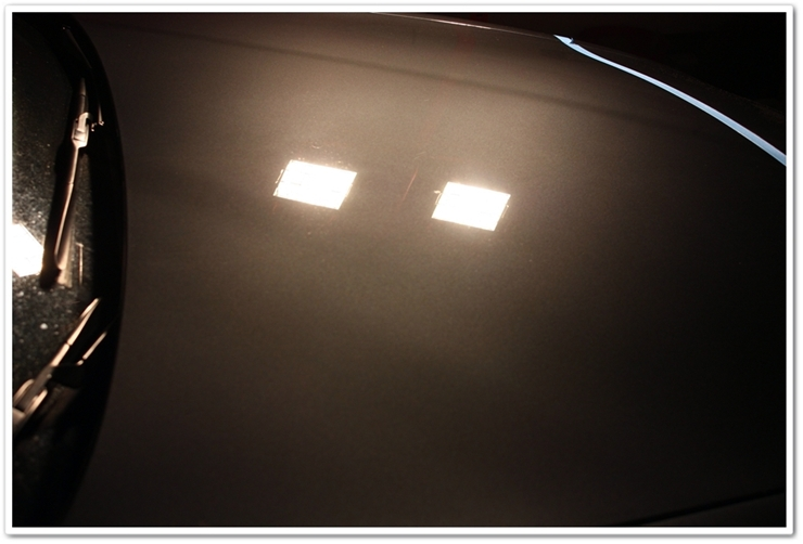 2008 Lexus LS460L paint after polish with Menzerna PO203S Power Finish