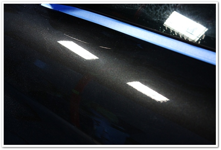 BMW M6 black sapphire paint before polishing
